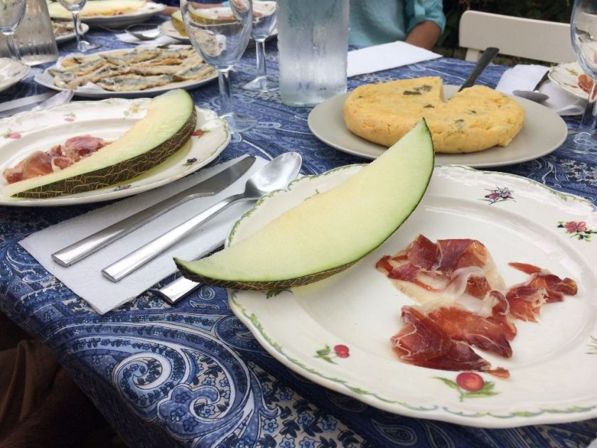 Melon with Spanish jamon