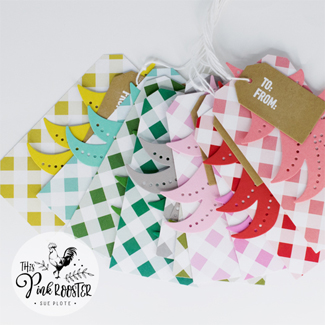 Gingham Tree Tags