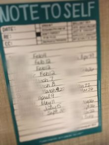 My birthday dates list!