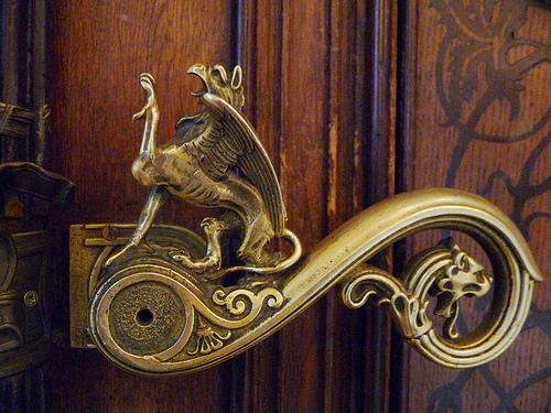 Door handle to the bathroom in the Military Museum in Vienna.