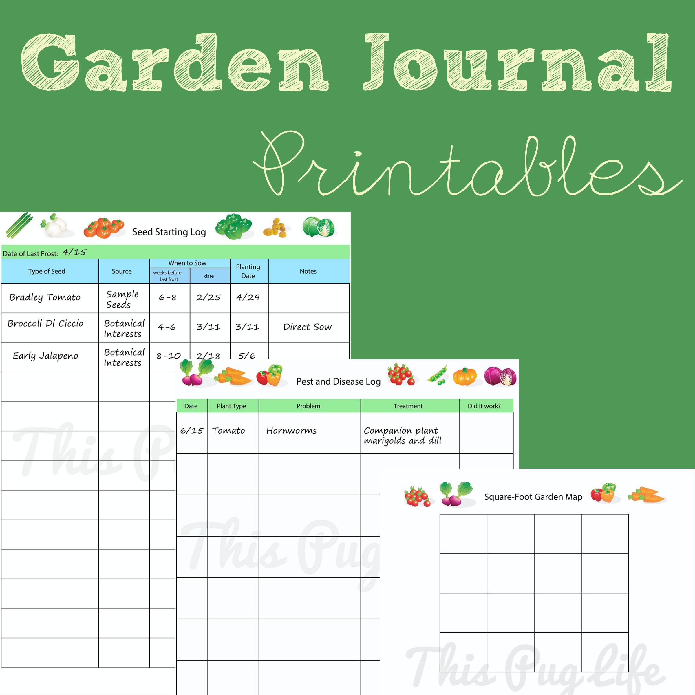 Free Garden Planner Printable