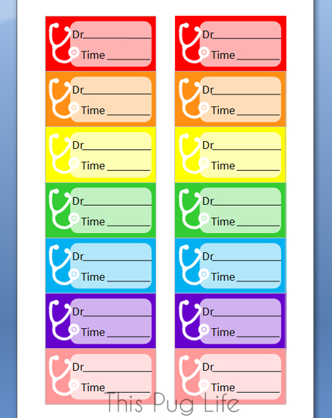 Printable Avery Label Planner Stickers - Doctor Appointment
