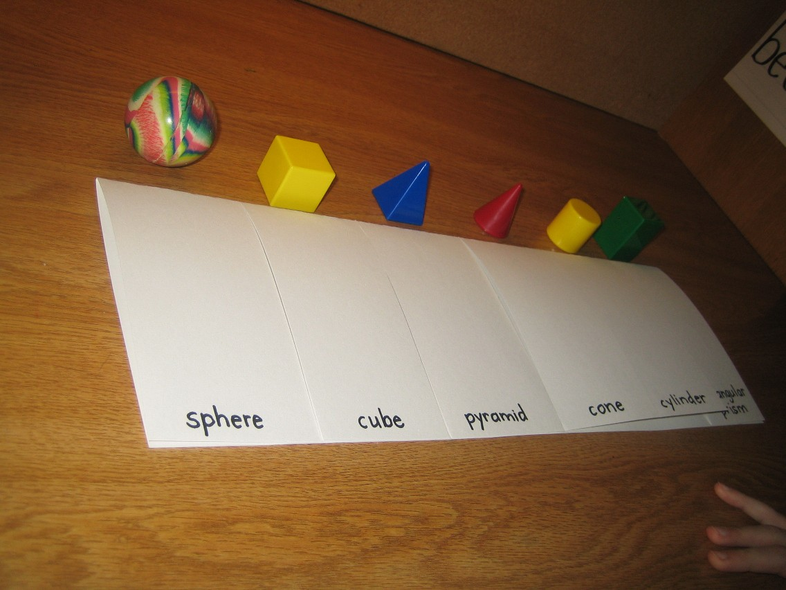 Integrating 3 D Shapes And Literacy