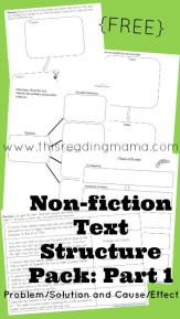 Nonfiction Text Structure Pack- Part 1
