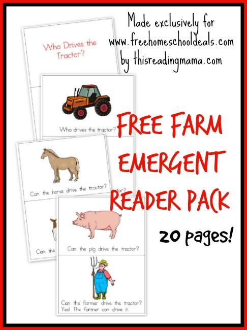 Free Farm Emergent Reader Pack
