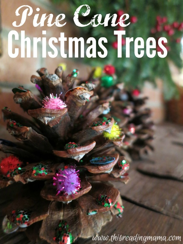 Pine Cone Christmas Trees Craft