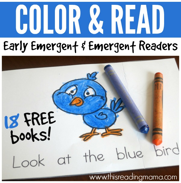 Color and Read Books - Early Emergent and Emergent Readers