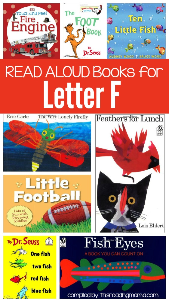 Letter F Book List- Read Aloud Books for Letter F