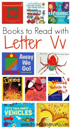 Books to Read with Letter V - Letter V Book List - This Reading Mama