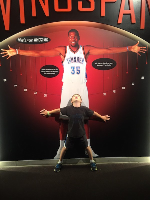 Wing Span at the Basketball Hall of Fame
