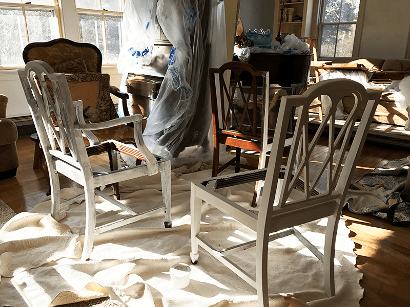 Chalk Painting Dining Chairs