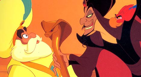 Jafar was based off of Maleficent's design