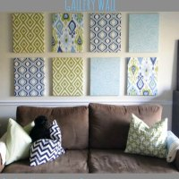 Fabric Wrapped Canvas Wall Gallery