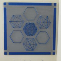 Easy and Inexpensive Hexagon String Art
