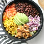 Take your salad to new levels with thisVegan Chicken Taco Salad with Jalapeño Popper Quesadillas. Because quesadillas are the new croutons | ThisSavoryVegan.com #vegan #salad
