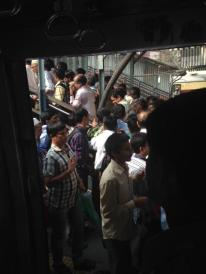 Mass exodus at one of the busiest stations (Dadar)