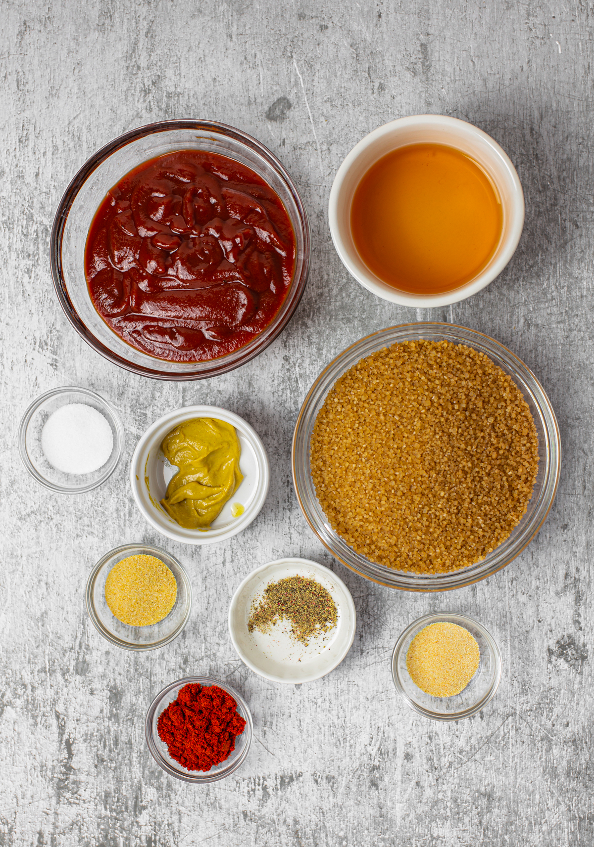 Ingredients needed to make a Homemade BBQ Sauce Recipe