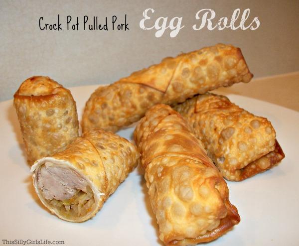 Crock Pot Pulled Pork Egg Rolls