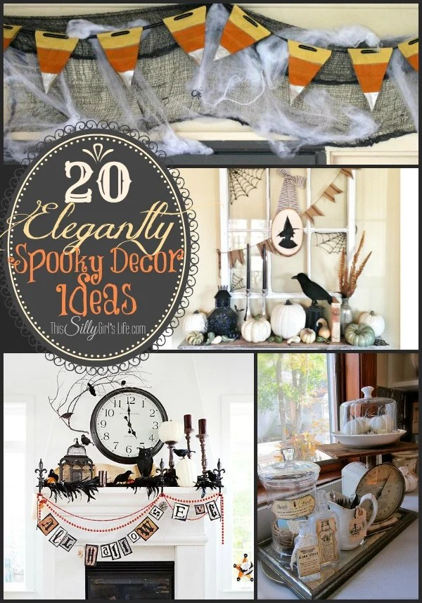 20 Elegantly Spooky Decor Ideas {The Weekly Round UP} from https://ThisSillyGirlsLife.com #Halloween #DecorIdeas #RoundUp