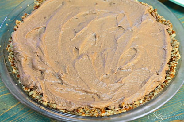 Easy Chocolate and Caramel Pie with Pretzel Crust #EatMoreBites #shop