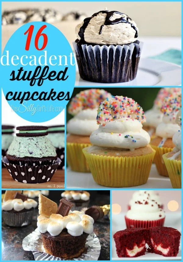 16 Decadent Stuffed Cupcakes