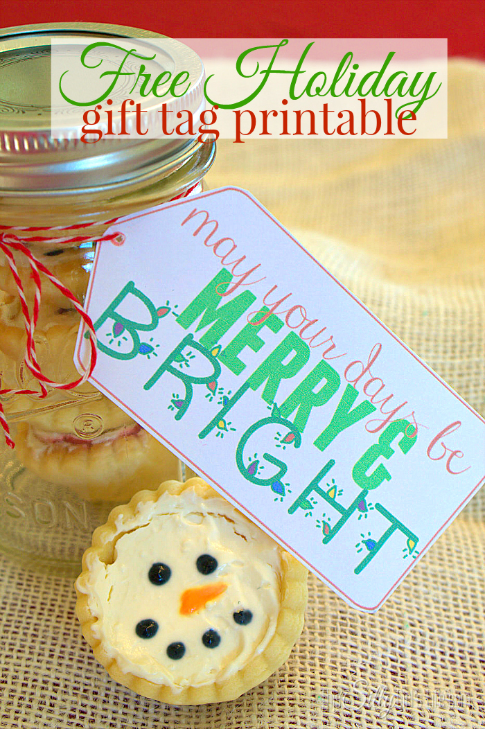 """""""May your days be merry & bright"""" Free holiday gift tag printable! - ThisSillyGirlsLife.com #TasteTheSeason #ad"""