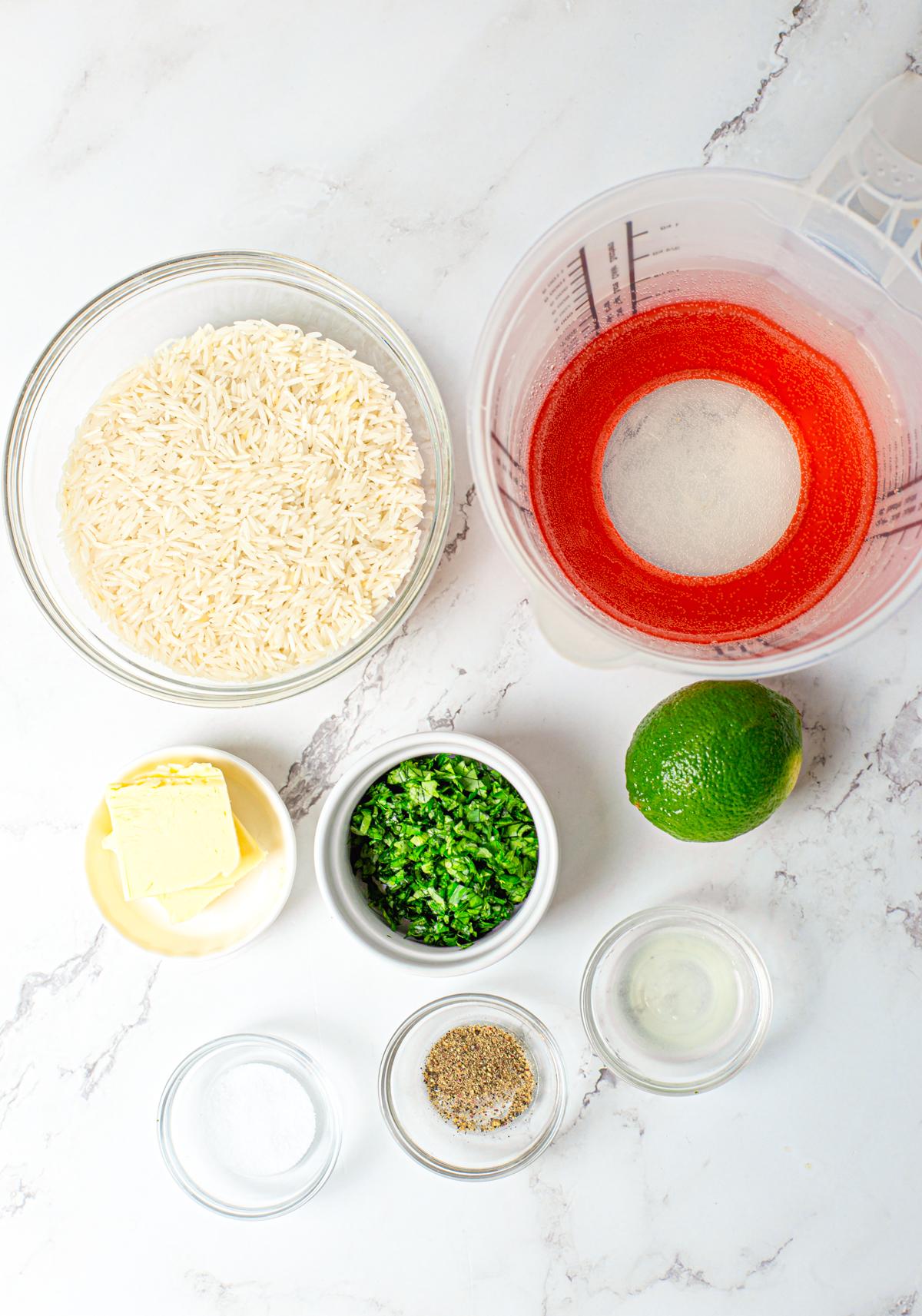 Ingredients need to make Cilantro Lime Rice