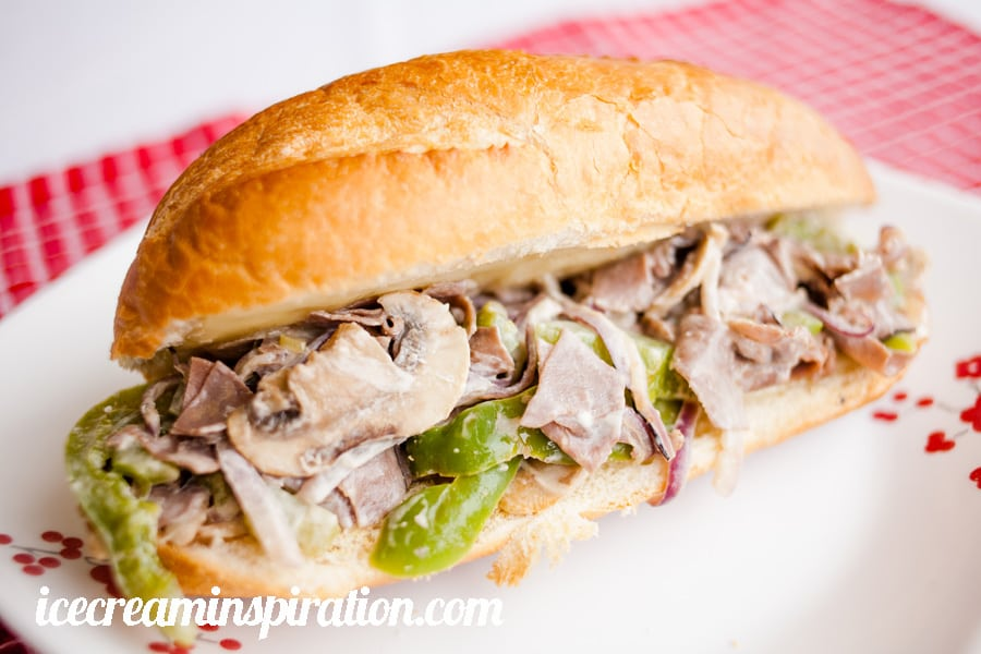 Cheater Cheesesteak Sandwiches, Make this popular sandwich in about 15 minutes for an easy, yummy weeknight meal!