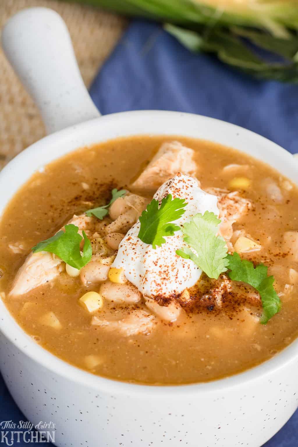 Low Calorie White Chicken Chili
