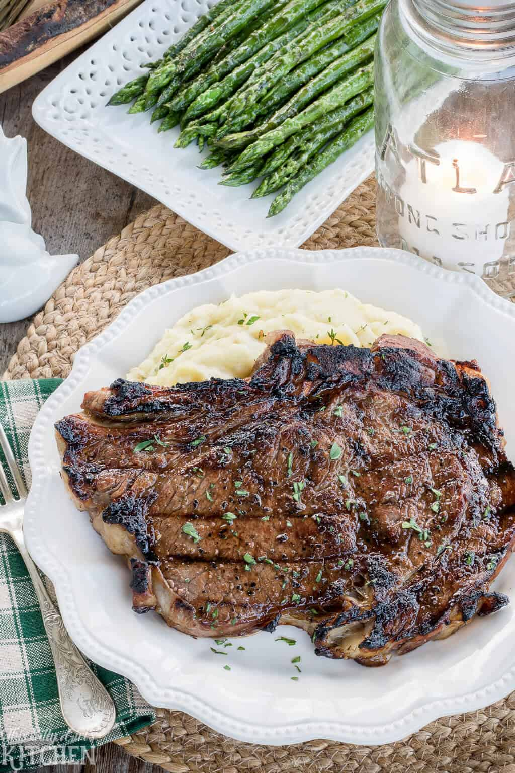 Best Steak Marinade for Grilled Rib Eye Steaks, grilled to perfection, you will make this recipe again and again! #Recipe from ThisSillyGirlsKitchen.com #ribeyesteak #steakmarinade #grilling #beststeakmarinade