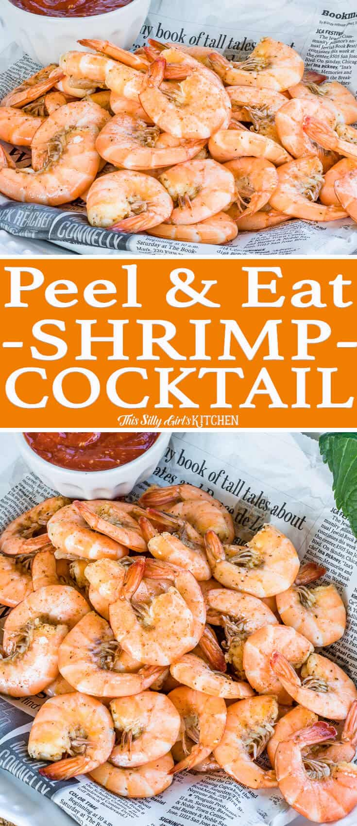 Peel and Eat Shrimp Cocktail, boiled in a rich beer stock makes this one super flavorful shrimp cocktail!