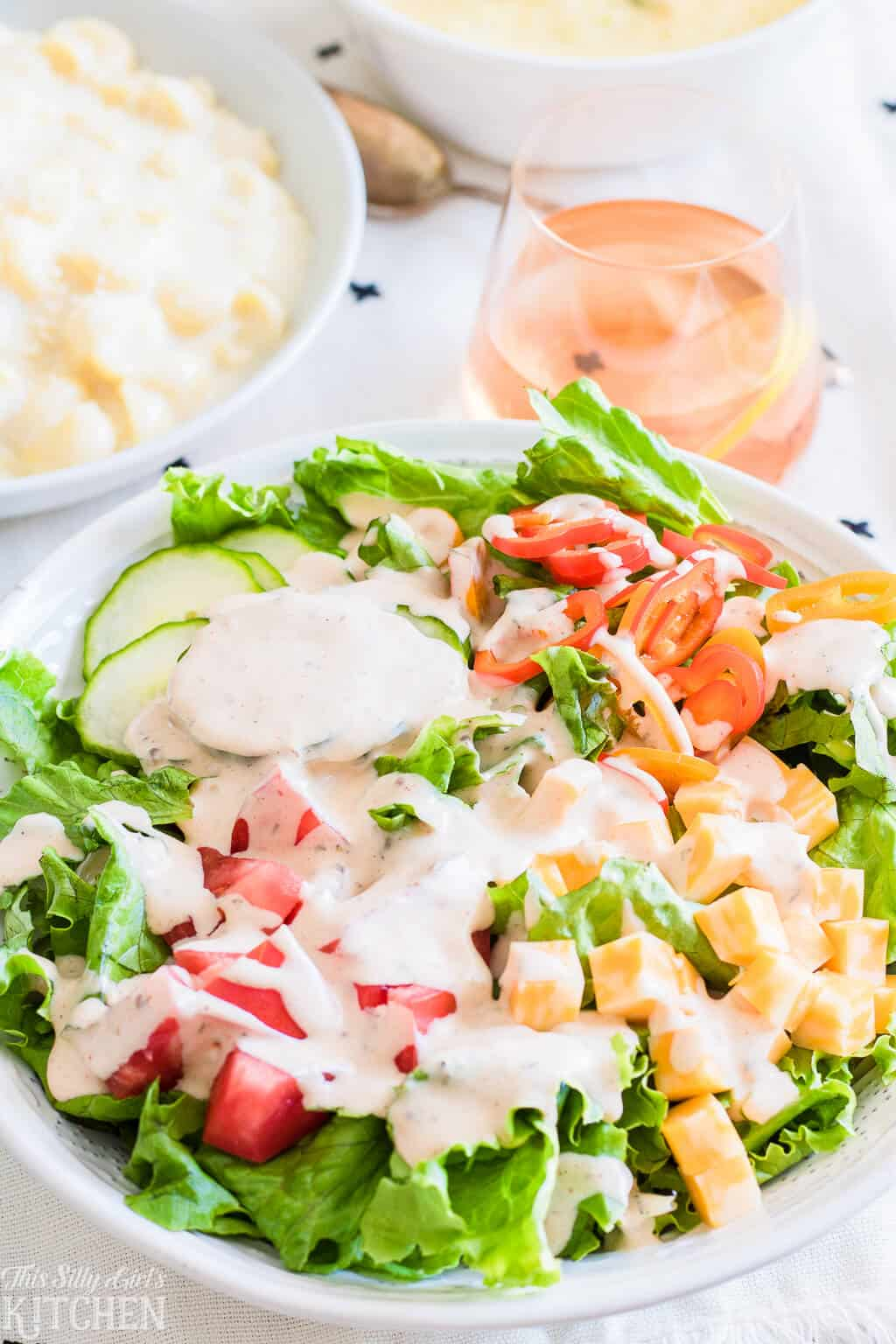 Garlic Salad Dressing, an easy, homemade dressing bursting with flavor!