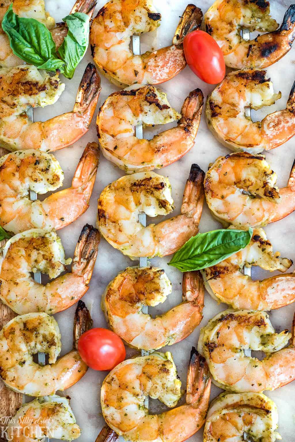 Close up of Bruschetta Grilled Shrimp
