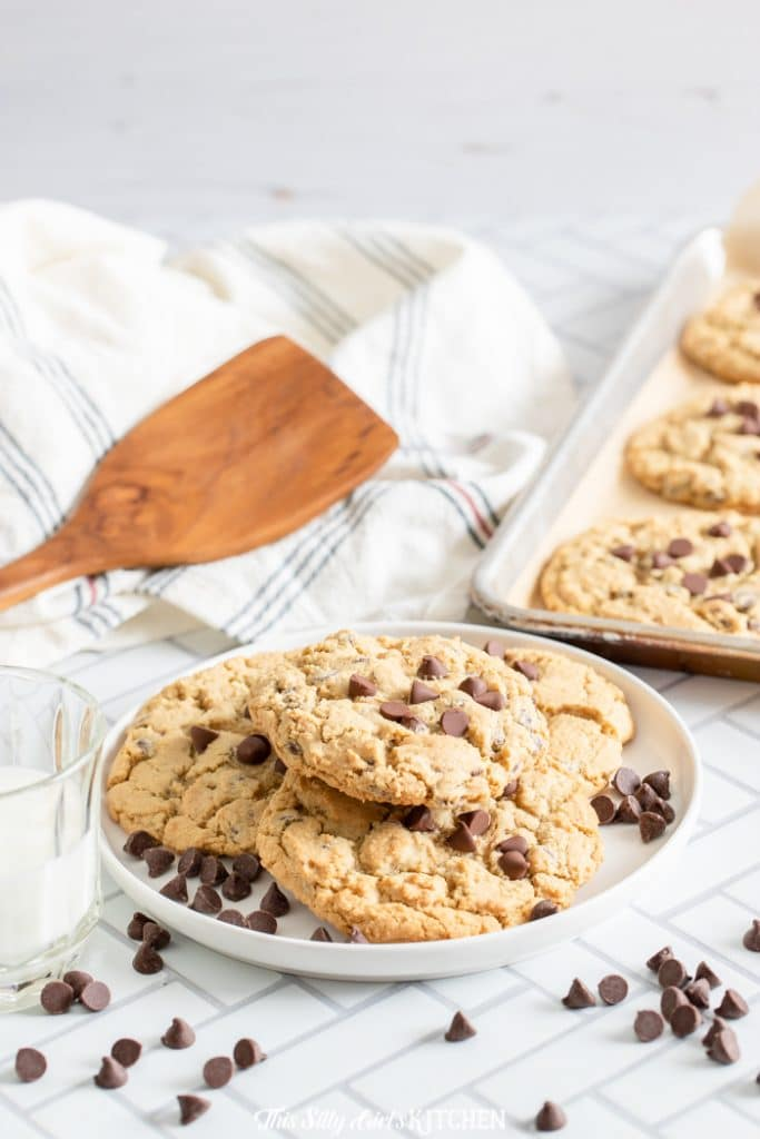 cookies on a plate in kitchen