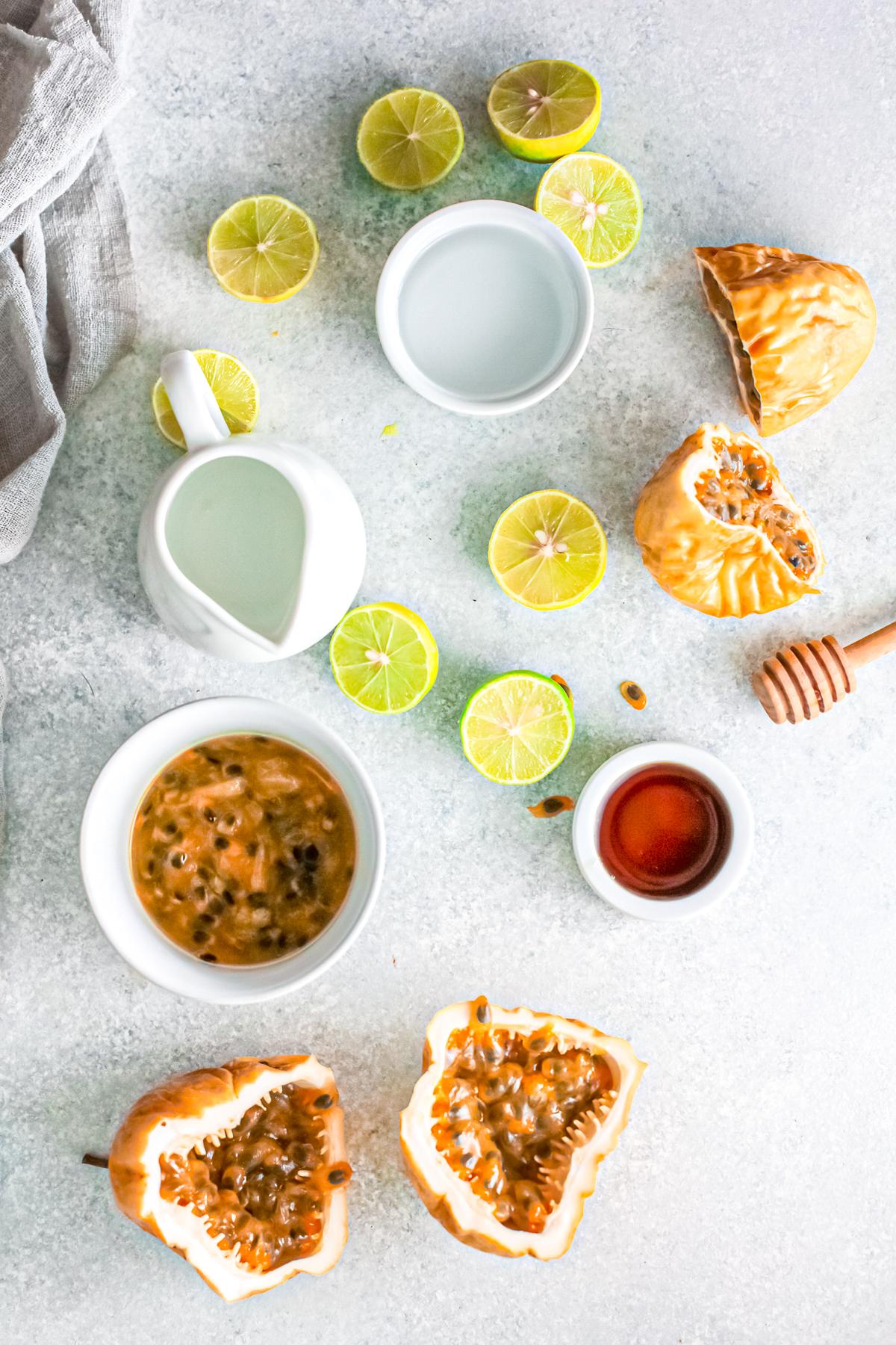 Ingredients needed to make Margaritas