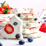 Stacked Yogurt Bark close up square image