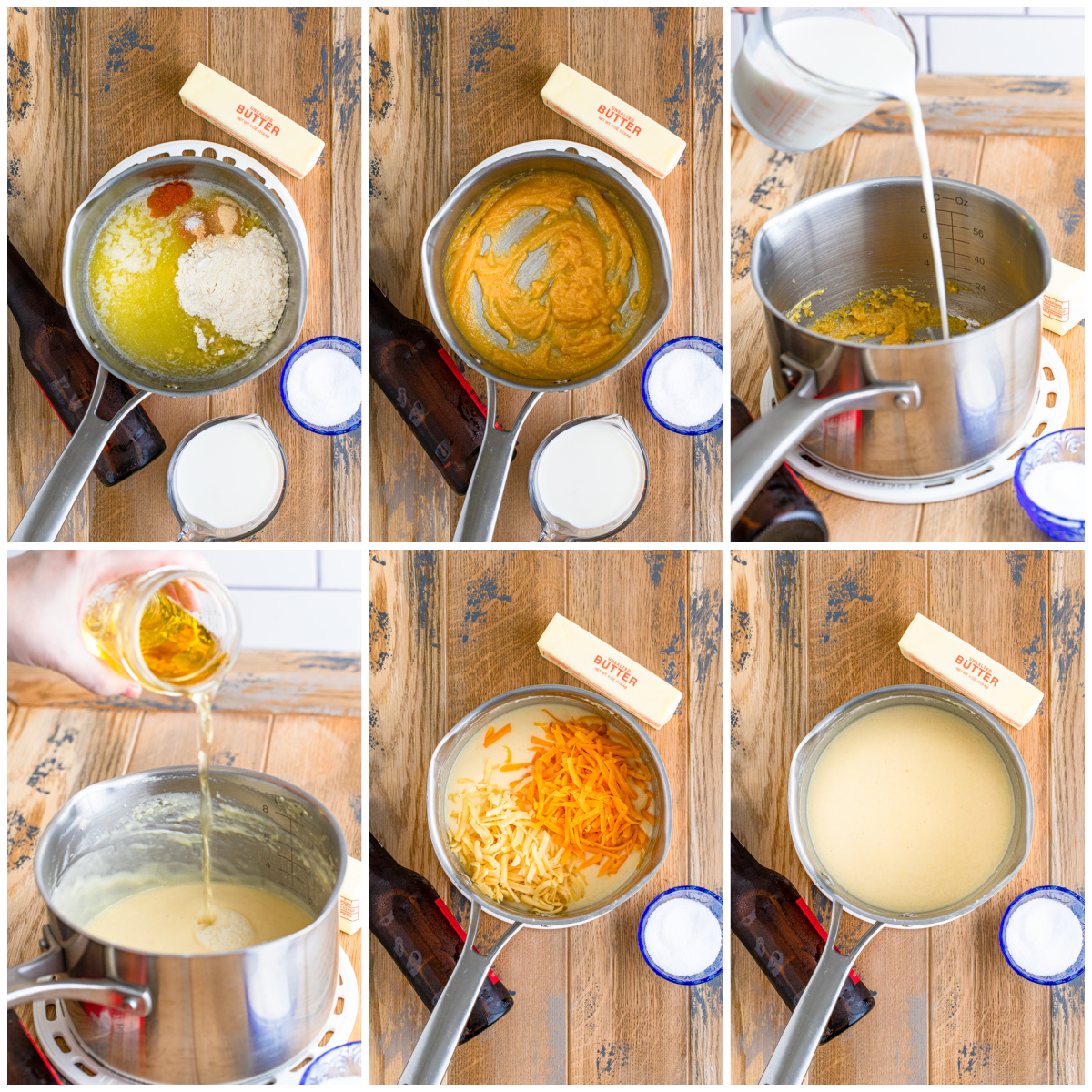 Step by step photos on how to make Beer Cheese Dip