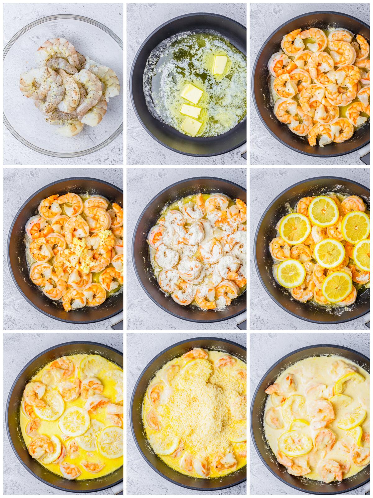 Step by step photos on how to make Creamy Lemon Shrimp
