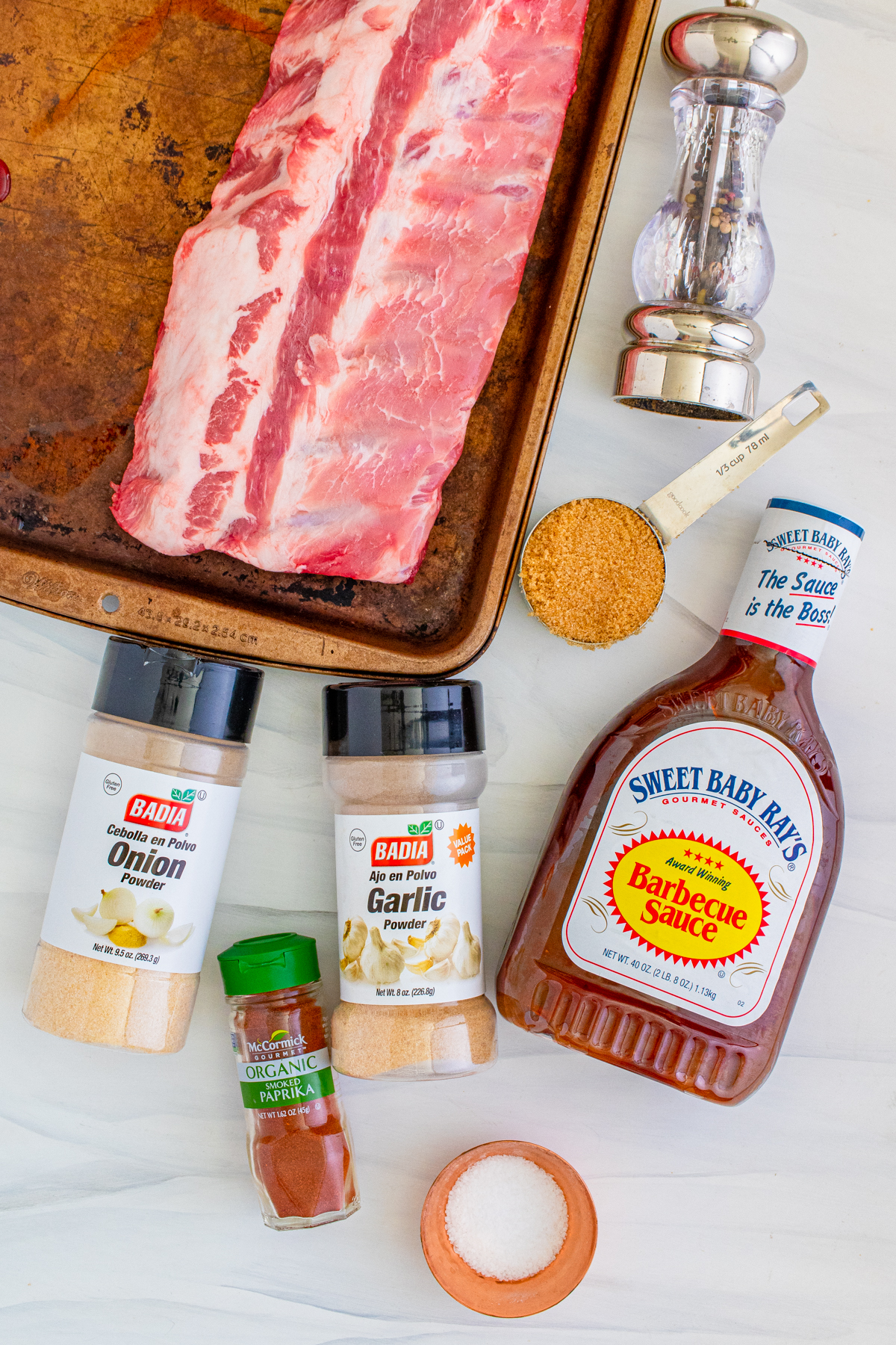 Ingredients needed to make Slow Cooker Ribs