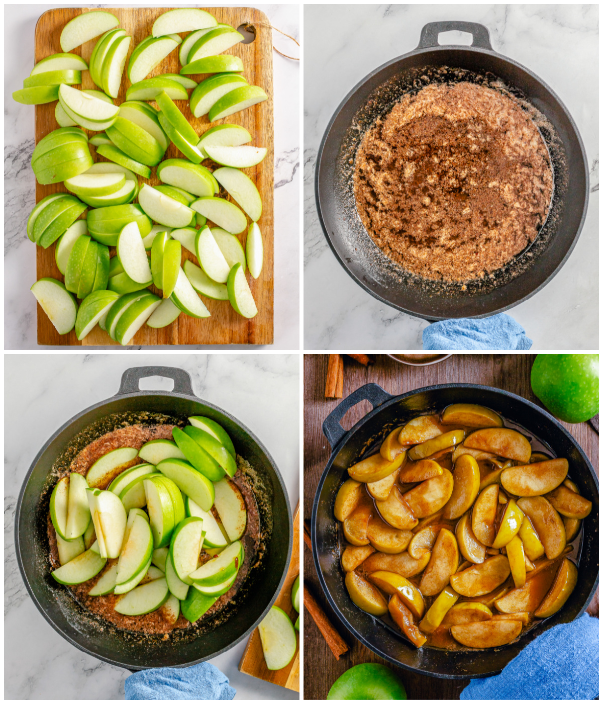 Step by step photos on how to make Fried Apples