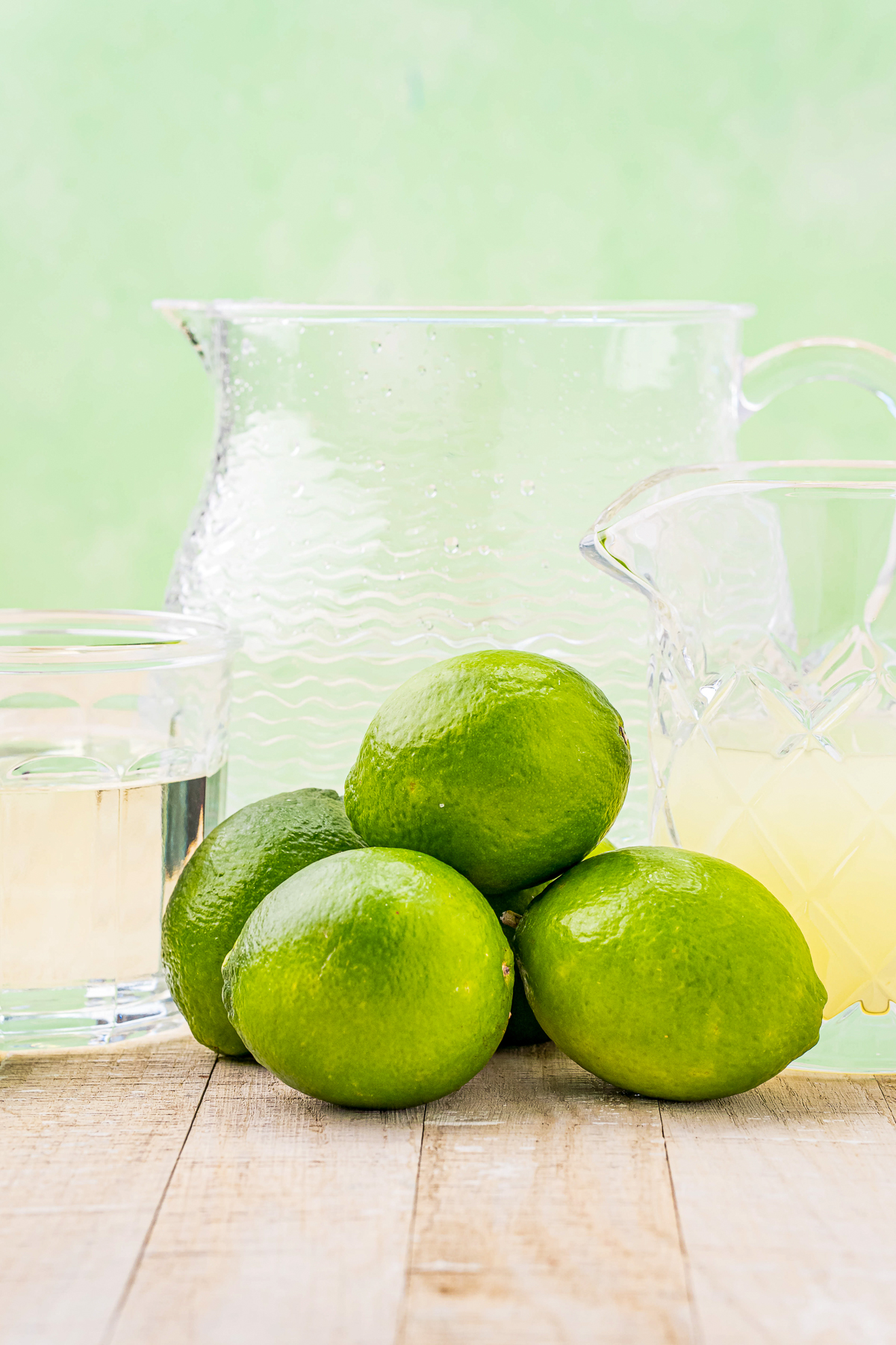 Ingredients needed to make a Limeade Recipe