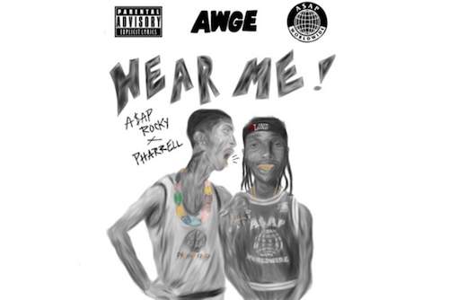 """A$AP Rocky And Pharrell Surprise With """"Hear Me"""" : Must Hear Hip-Hop Collaboration"""