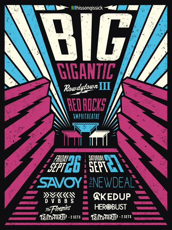 Big Gigantic Release Huge Full Lineup For Rowdytown 3 At Red Rocks