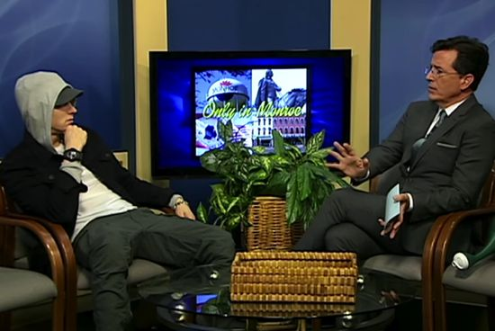 Eminem Gets Interviewed By Stephen Colbert On Michigan Public Access Show : Must Watch