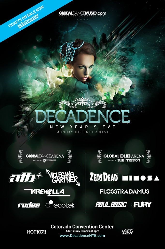 [GIVEAWAY] Decadence New Years Eve Event ft. Zeds Dead