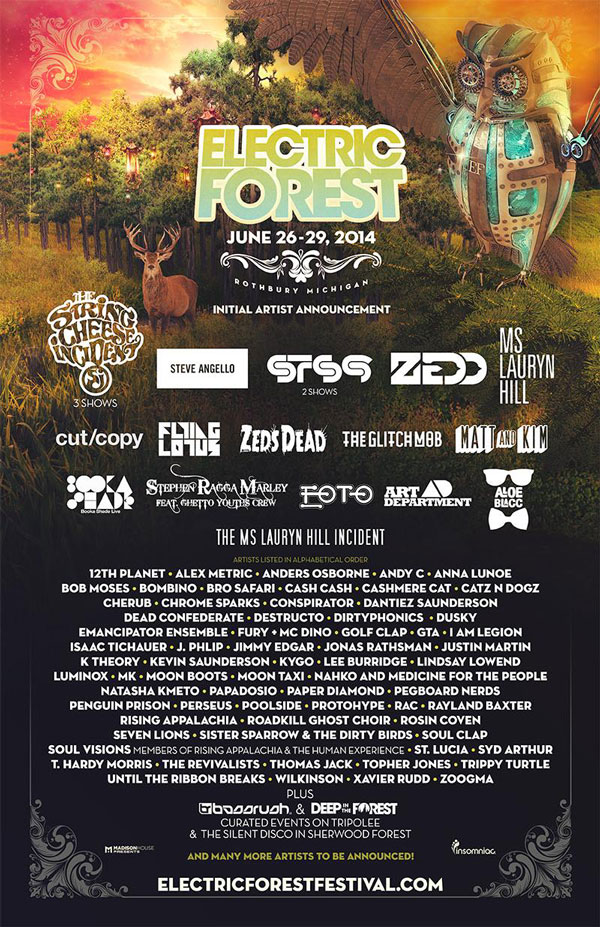 [PREMIERE] Electric Forest Music Festival 2014 Impresses Everyone With Diverse Lineup