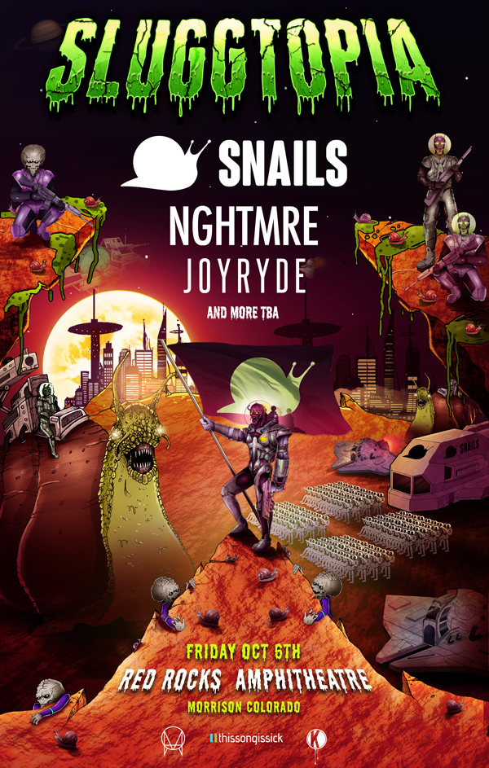 Snails Sluggtopia Poster