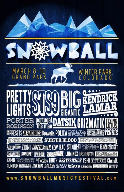 SnowBall Music Festival 2013 Complete Massive Lineup