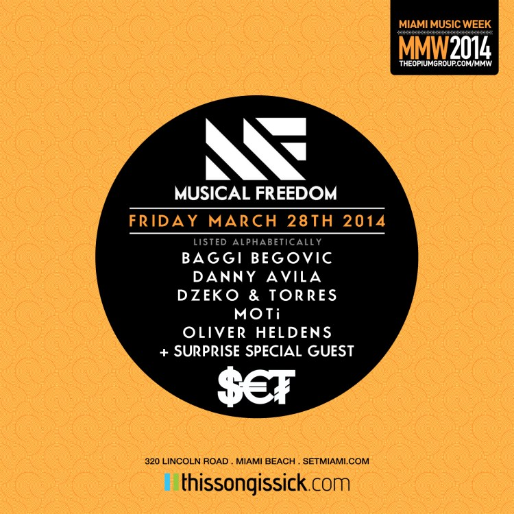 TSIS Presents Tiesto's Musical Freedom Records Miami Music Week Party