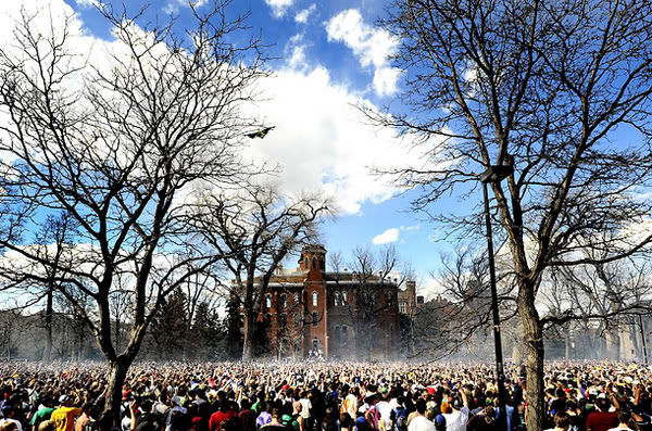 VIDEO: 2010 Boulder 420 Smoke - Out at CU Boulder ft. Sam Adams